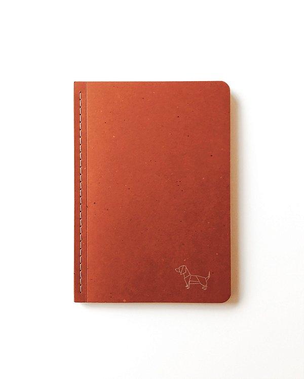 Caderno Pontilhado Médio Papirkutya Terracota