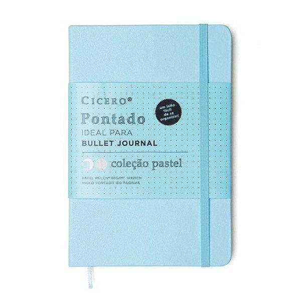 Caderno Pontilhado Médio Cicero Azul Pastel
