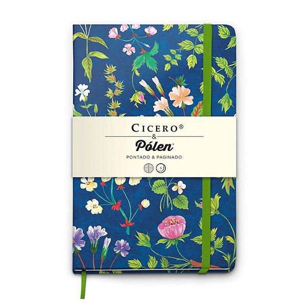 Caderno Pontilhado Médio Cicero & Pólen Floral Desireé Paginado