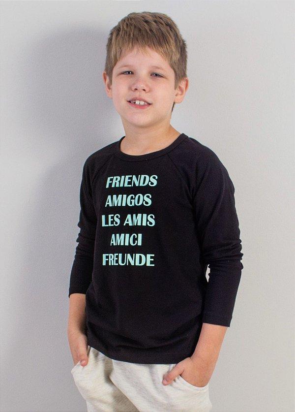 blusa raglan friends