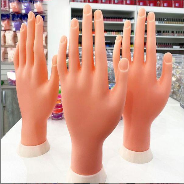 Mão Para Treino De Manicures Unhas em gel; acrilico; tips, etc - Valor por unidade