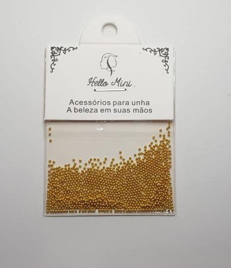 Caviar de Metal - na cor dourada