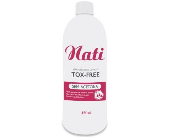 Removador de Esmalte Instantâneo Sem Acetona Nati TOX-FREE - 450ml
