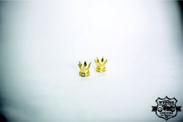 Capa da Válvula (bico) - Pneu - Coroa - Dourada - PAR - VRodKings