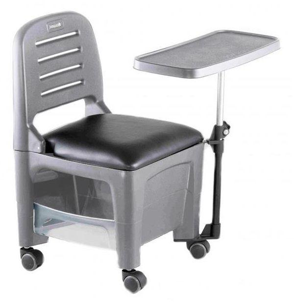 Cadeira Mesa Manicure Cirandinha Bari, Cinza - Dompel