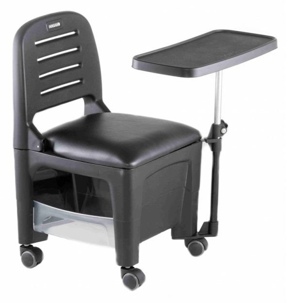 Cadeira Mesa Manicure Cirandinha Bari, Preta - Dompel
