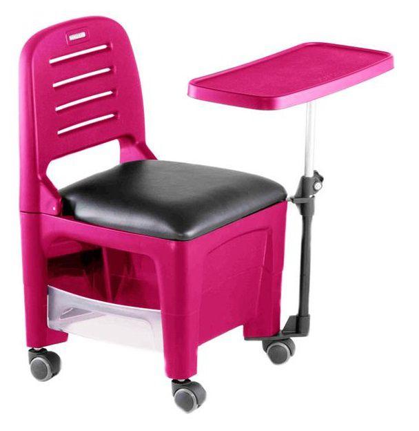 Cadeira Mesa Manicure Cirandinha Bari, Rosa - Dompel