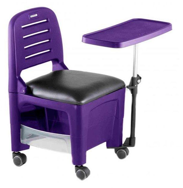 Cadeira Mesa Manicure Cirandinha Bari, Roxa - Dompel
