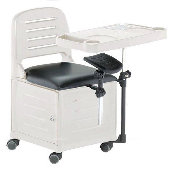 Cadeira Mesa Manicure Cirandinha Veneza, Branca - Dompel