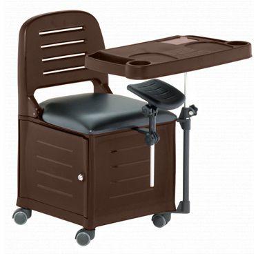 Cadeira Mesa Manicure Cirandinha Veneza, Marrom Tabaco - Dompel