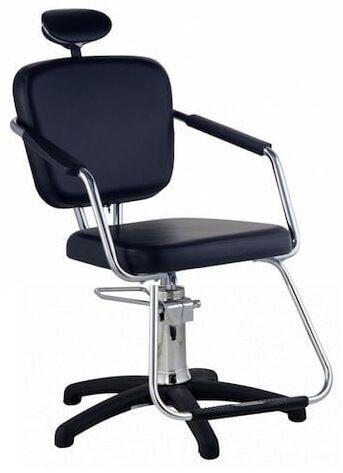 Cadeira Nix Hidráulica Para Salão Cabeleireiro, Preta - Dompel
