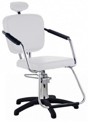Cadeira Nix Hidráulica Para Salão Cabeleireiro, Branca - Dompel