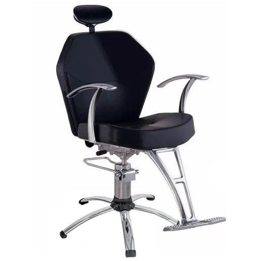 Cadeira Romana Hidráulica Reclinável para Barbeiro Barbearia, Preta - Dompel
