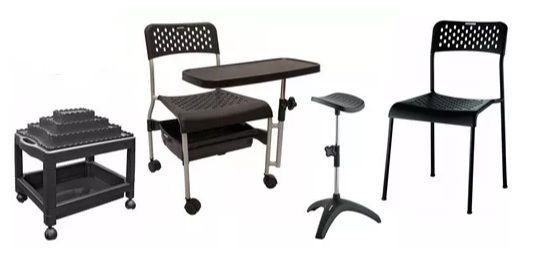 Kit Manicure Profissional: Cirandinha Carrinho Tripé Cadeira