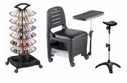 Kit Manicure Profissional Mari: Cirandinha, Carrinho, Tripé - PRETO