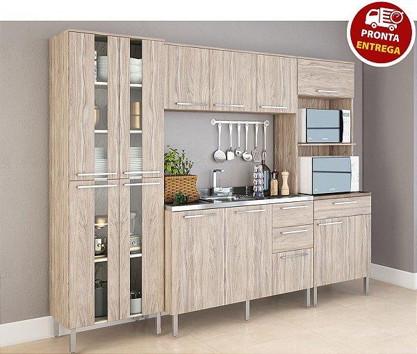 Cozinha Modulada Atraente 4 Peças - Arte Cass Elmo/Carvalho