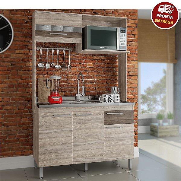 Cozinha Compacta Cris 1180 - Arte Cass Elmo/Carvalho