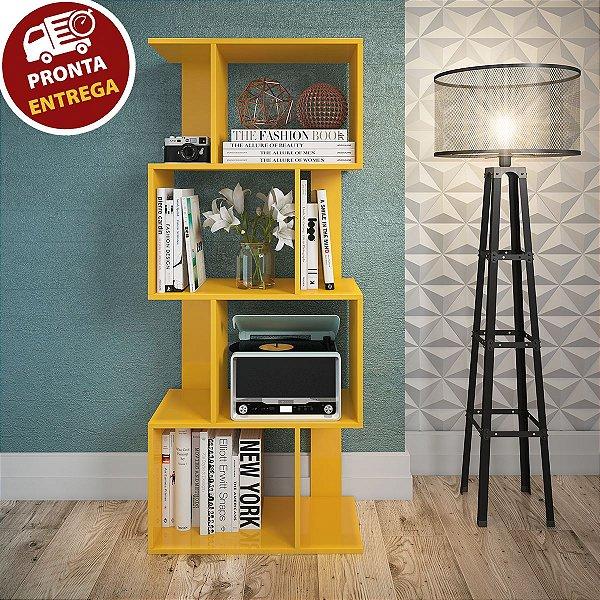 Estante/Rack Nicho Prateleira Amarela P/ Livros Sala Escritório