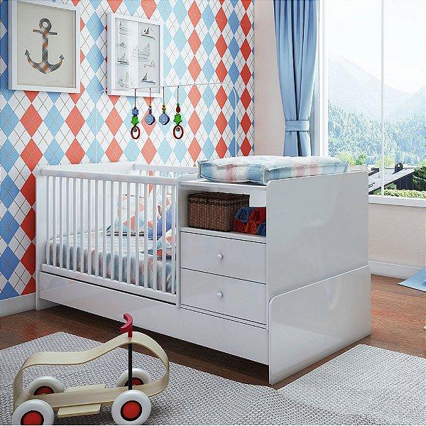 Berço Infantil Cama Multifuncional com 2 Criados Mudos
