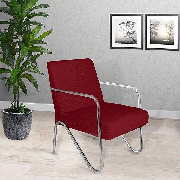 Poltrona/Cadeira Decorativa Sirena - Vermelho