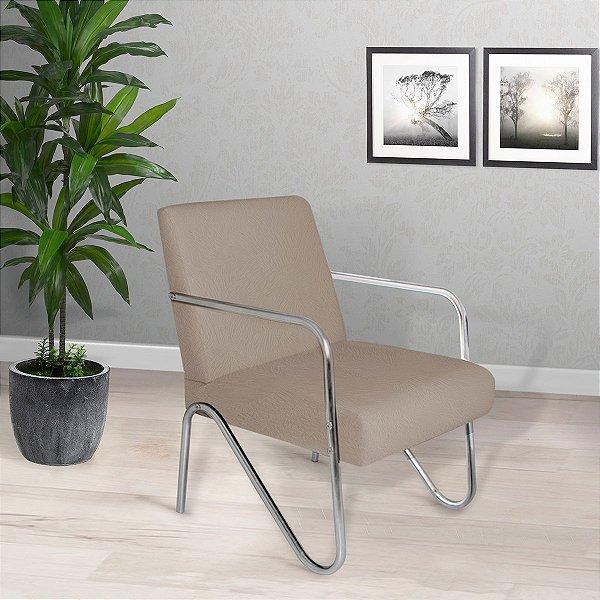 Poltrona/Cadeira Decorativa Sirena - Bege