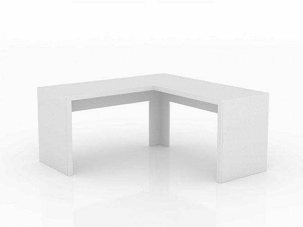 Mesa De Escritório Angular Me4116 Branco - Tecno Mobili