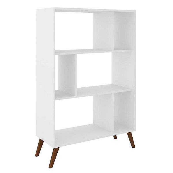 Estante para Livros com Nichos Retrô RT 3015 - Branco