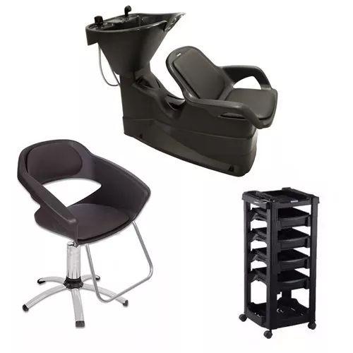 Kit Lavatório Cabelo + Cadeira + Carrinho Dompel C/ Garantia