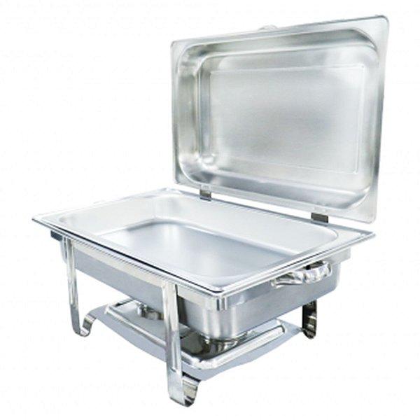 Estufa Rechaud de Alimentos Retangular Buffet Premium - Inox