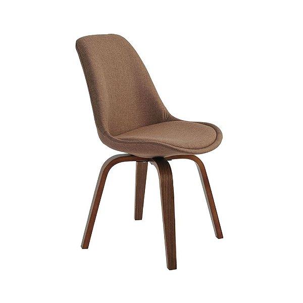 Cadeira Lis Com Assento Em Polipropileno E Almofada Fixa - Marrom