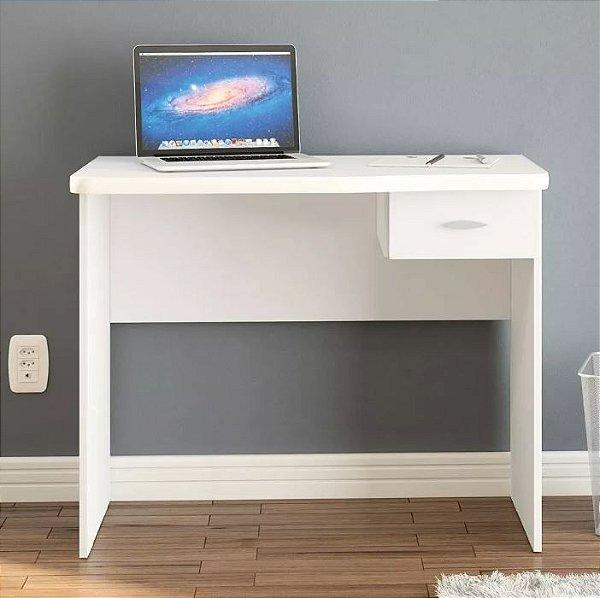 Mesa Escrivaninha Para Computador Com 1 Gaveta Branca