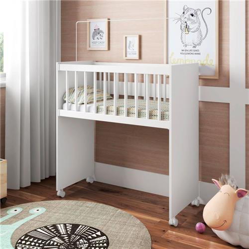 Berço Infantil Bedside Sleepers Soneca Alto Branco Premium Luxo