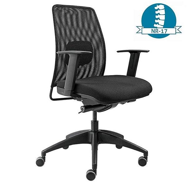 Cadeira Escritório Tela Encosto Relax Lombar - Várias Cores