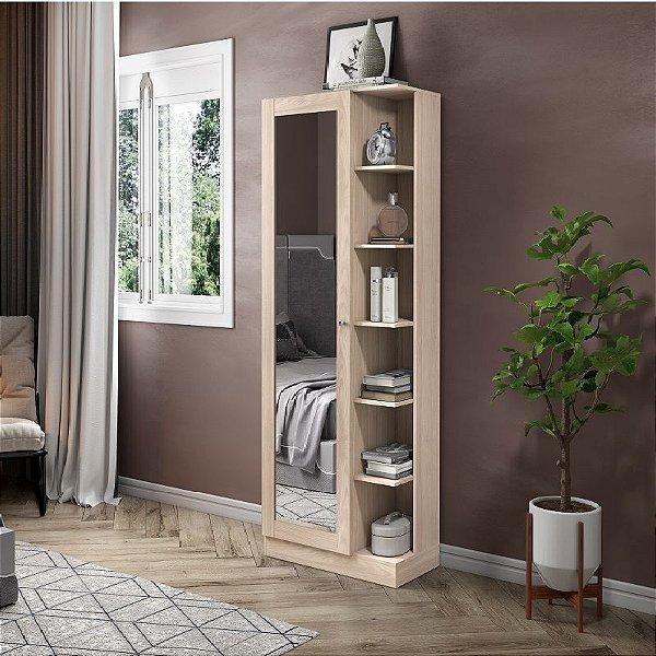 Armário para Sapato Sapateira 1 porta com Espelho Fendi