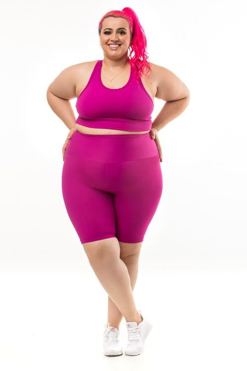 84e63203f Bermuda Plus Size - Emana Plus Magenta - Wonder Size - Moda Fitness ...
