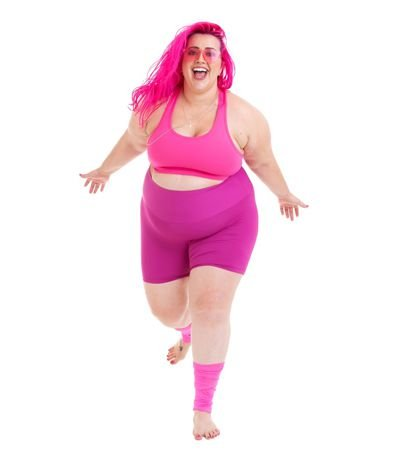 Shorts Plus Size Emana Magenta