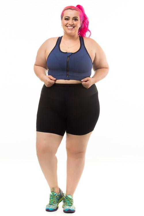 Shorts Plus Size Emana Preto