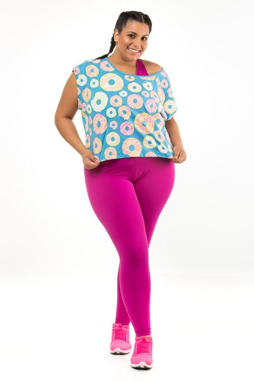 Cropped Plus Size Donut Panic Regata