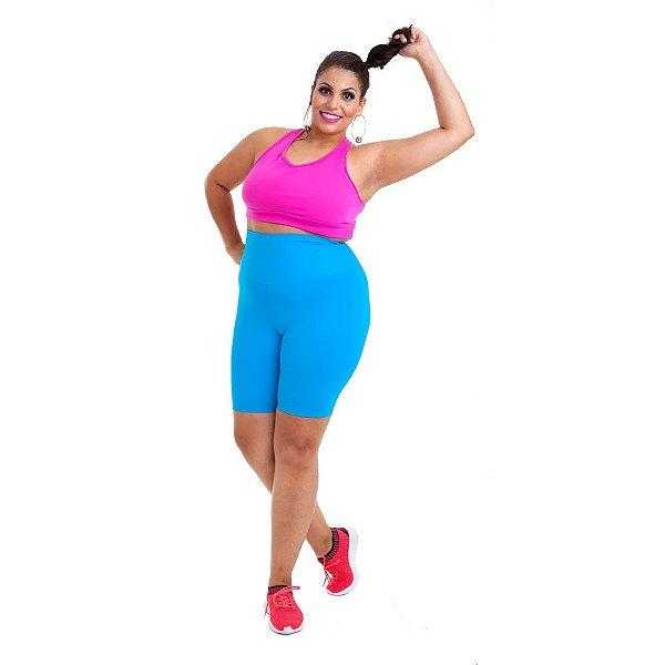 8ac1e7e219 Bermuda Plus Size - Emana Plus Azul - Wonder Size - Moda Fitness ...