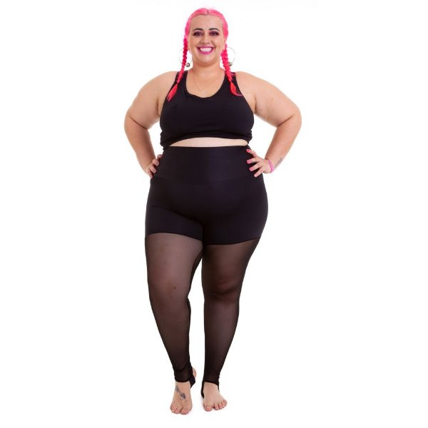 Top Plus Size Phelps Preto Emana Plus sem zíper