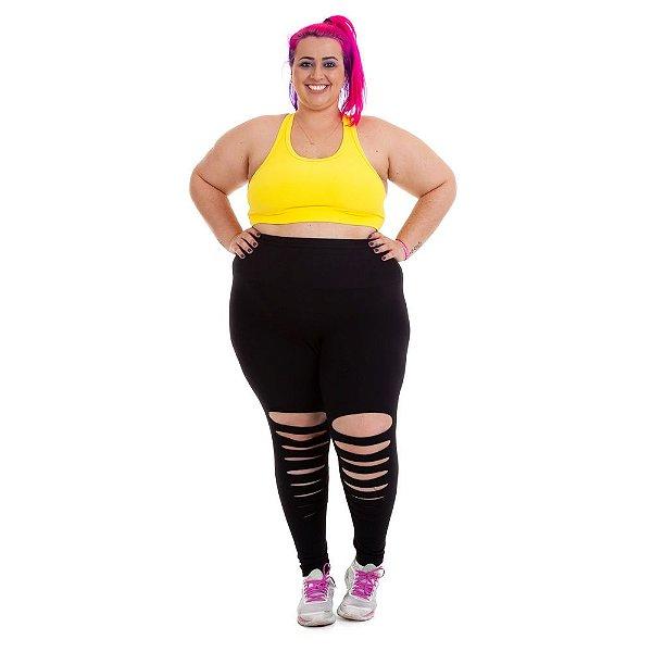 Top Básico Amarelo Plus Size Suplex