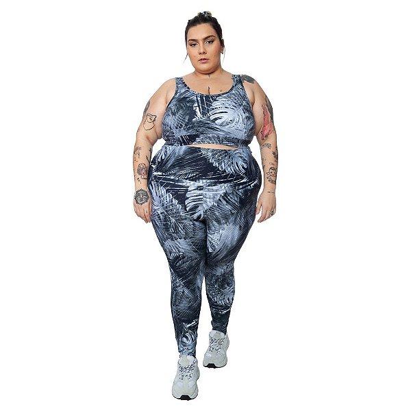 Legging Plus Size Joana Dark - Emana Plus Estampada Giovanna