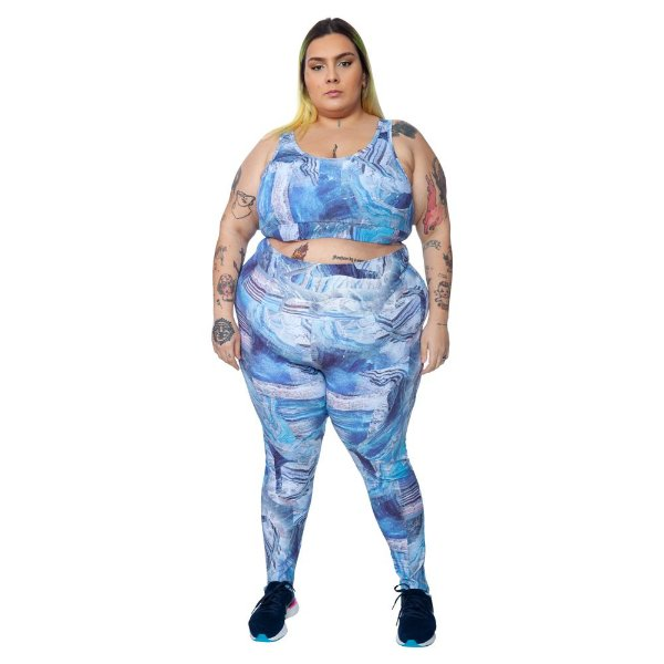 Legging Plus Size Joana Dark - Emana Plus Estampada Bianca