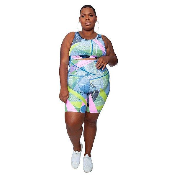 Bermuda Plus Size Joana Dark - Emana Plus Estampada Renata