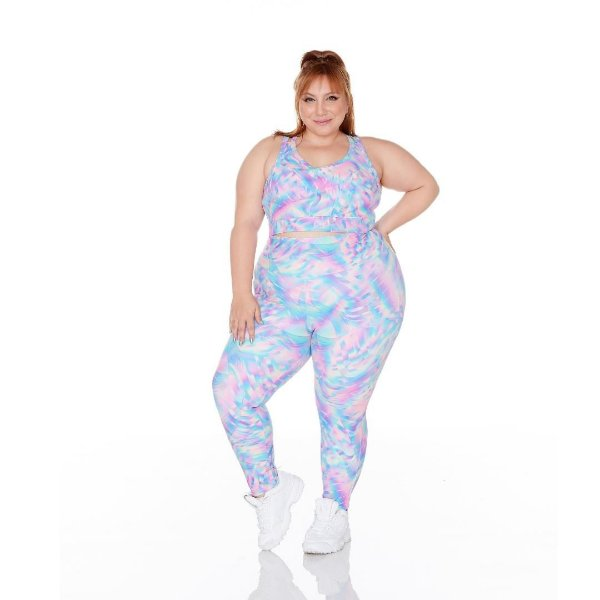 Legging Plus Size Joana Dark - Emana Plus Estampada Ju Romano