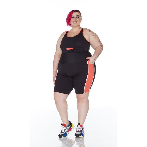 Bermuda Plus Size Joana Dark Emana Plus Refletiva
