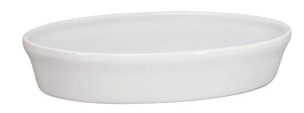 Assadeira Oval - 16 x 24 x 5cm - Branco - MondoCeram Gourmet