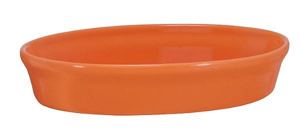 Assadeira Oval - 16 x 24 x 5cm - Laranja - MondoCeram Gourmet