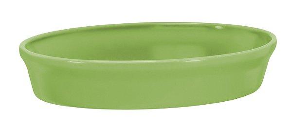 Assadeira Oval - 16 x 24 x 5cm - Verde - MondoCeram Gourmet