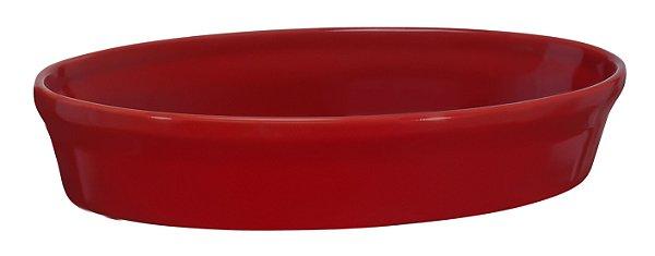 Assadeira Oval - 16 x 24 x 5cm - Vermelho - MondoCeram Gourmet